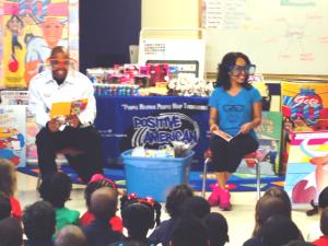 Reec & Maria More Read To The Kids at Primrose School