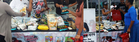 Hot 107.9's Reec Host Free Grocery Give Away With PAYUSA!