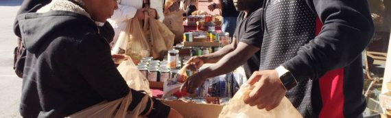 Reec host Free Grocery Give Away with Positive American Youth