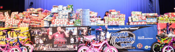 Hundreds Receive Toys at Positive American Youth's Free Toy Give Away!