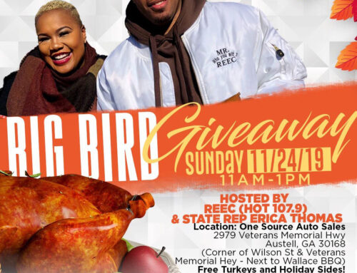 Positive American Youth is Giving Away 107 Turkeys an Hour with State Rep Erica Thomas & Reec Swiney of Hot 107.9 Right in Time For Thanksgiving Dinner!
