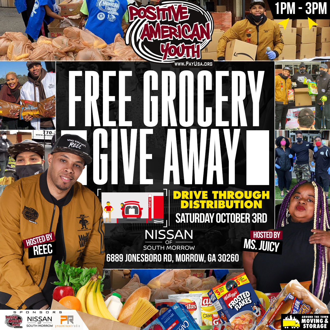 Free Grocery Give Away! Sat. 10/3/20 @1pm
